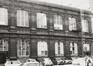 Rue du Midi 144. Académie Royale des Beaux-Arts, grande cour, façade nord, 1985