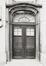 Rue du Midi 144. Académie Royale des Beaux-Arts, grande cour, façade sud, détail porche, 1985