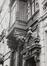 avenue de Stalingrad 62, ancienne maison personnelle de l'architecte de la Ville P.V. Jamaer, détail bow-window avec lions en consoles., 1986