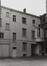 rue des Tanneurs 65. Anciens magasins Jules Waucquez & Cie. Archives de la Ville de Bruxelles, façade arrière du n° 65., 1980