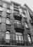 rue Antoine Dansaert 196-202, détail étage., 1979