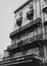 rue Antoine Dansaert 204-208, détail étage ; angle boulevard Barthélémy 1-3., 1979