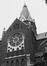 rue d'Artois 17-19. Église Saint-Antoine de Padoue et Couvent des Franciscains Conventuels, detail tour., 1979