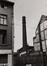 Rue des Fabriques 54. Fonderie. Atelier et Tour à plomb, vue vers la tour depuis le boulevard de l'Abattoir, 1979