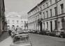 rue de l'Infirmerie, n° pairs. Immeubles quartier du Béguinage, vue vers l'Hospice Pachéco, 1978