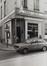 rue de Laeken 157-161, détail rez, angle rue des Échelles., 1978