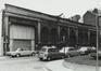 rue Pletinckx 29-33 et rue des Chartreux 70. Ancienne Gare de Marchandises Bruxelles-Chartreux des Chemins de Fer de l'État, hangars, 1979