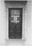 Porte d' Anderlecht, anciens pavillons d'octroi, pavillon nord, détail portail., 1983
