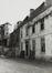 rue des Riches Claires 23. Ancien Couvent des Riches Claires, ailes O. et N. du cloître, rue Saint-Christophe 32-34, façade vers la cour, 1981
