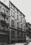 rue Saint-Christophe 43-45. Anciens Établissements Absalon. Entrepôt, façade rue van Artevelde entre n° 70 et 72., 1979