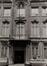 Rue du Fossé aux Loups 32. Hôtel de maître de style Louis XV, détail travée axiale, 1980