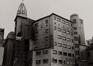 Rue du Fossé aux Loups 46-46B-48. Ancien siège de la Caisse Générale d'Épargne et de Retraite (CGER), complexe Alfred Chambon depuis la rue du Persil, 1982