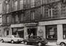 Rue Grétry 39 à 49, détail rez, 1980