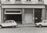 rue Léopold 11-15. Ensemble néo-classique. Cinéma La Monnaie, détail rez., 1980
