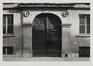Rue du Marais 57. Hôtel de maître néoclassique, détail porche, [s.d.]