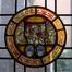 Square Ambiorix 13, rez-de-chaussée, détail de la fenêtre de l'avancée polygonale, 2009