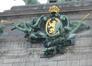 Arcade du Cinquantenaire, cartouche portant les armes de la Belgique, par Julien Dillens, 2007