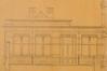 Rue Véronèse 21, école primaire no 19, le volume d'entrée, élévation vers la cour, AVB/PP 3135 (1902).