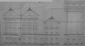 Allée Verte 7-8 à 13, élévation des bâtiments de la Meunerie bruxelloise à reconstruire après incendie en 1908© AVB/TP 2206 (1908)