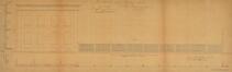 Chaussée d'Anvers 208-210, dépôt de tram, élévation de la maison de gauche et mur de clôture© AVB/TP Laeken 2749 (1872)