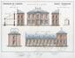 Rue de l'Éclusier Cogge 12-14, élévations à rue et latérales, 1869, AGR, T148, Gouvernement provincial de Brabant, Plans du Service technique des Bâtiments, inv. 6589 (1869)