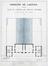 Rue de l'Éclusier Cogge 12-14, plan de l'étage, 1869, AGR, T148, Gouvernement provincial de Brabant, Plans du Service technique des Bâtiments, inv. 6588 (1869)