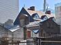 Rue Nicolay 18 – rue du Frontispice 57, anciens dépôts de la brasserie Le Chevalier Marin, vue arrière de la cour et du corps perpendiculaire gauche, 2016