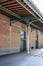 Rue Picard 3, Tour et Taxis, entrepôt A, façade est, imposte d'une porte© (© ARCHistory / APEB, 2017)
