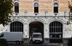 Avenue du Port 86c, Tour et Taxis, entrepôt B, façade sud, portail, blason© (© ARCHistory / APEB, 2017)