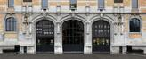 Avenue du Port 86c, Tour et Taxis, entrepôt B, façade nord, portail, blason© (© ARCHistory / APEB, 2017)