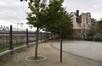 À la jonction des rues de la Sambre et du Laekenveld, Tour et Taxis, grille de clôture, (© ARCHistory / APEB, 2017)