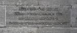 Palais 10, pierre commémorative de la construction des Grands Palais, ARCHistory / APEB, 2018