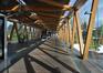 Passerelle enjambant la chaussée romaine, vue intérieure, ARCHistory / APEB, 2011