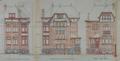 Rue des Chrysanthèmes 43, élévation, AVB/TP Laeken 697 (1912)
