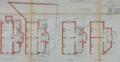 Rue des Chrysanthèmes 43, plans terriers, AVB/TP Laeken 697 (1912)