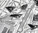 Détail du Nouveau Plan de Bruxelles industriel avec ses Suburbains, édité par Jules De Waele en 1910 et figurant, en haut à droite, la fabrique P. Ruttiens, 2017