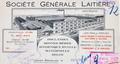 En-tête de lettre de la Société Générale Laitière, figurant les usines de la rue Edmond Tollenaere 56-58, AVB/TP 37830 (1928)
