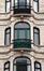 Boulevard Émile Bockstael 223-227, détail d'un bow-window, 2017