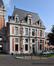 Rue Tielemans 21, ancien hôtel communal, façade latérale droite du corps principal, 2017