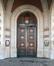 Place Émile Bockstael, ancien hôtel communal, portail de la tour-porche, 2017