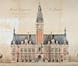 Place Émile Bockstael, ancien hôtel communal, état projeté de la façade principale© AVB/TP 59070 (1907)
