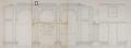 Place Émile Bockstael, ancien hôtel communal, élévation des faces intérieures des salles du Conseil et des Mariages© AVB/PP 3388 (1911)
