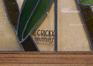 Karel Bogaerdstraat 4, Martha Somers Lyceum,  benedenverdieping, inkomhal, detail glas-in-loodraam, signatuur, 2017