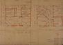 Rue Laneau 91, plans des rez-de-chaussée et étage© AVB/TP 42878 (1933)
