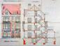 Rue Louis Wittouck 50, élévation et coupe, AVB/TP Laeken 3672 (1915)