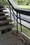 Passerelle piétonne enjambant l'A12, détail d'un escalier, ARCHistory / APEB, 2018