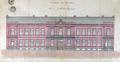 Rue Marie-Christine 37, École moyenne de l'État pour filles, élévation à rue du corps principal© AVB/NPP S8 (1882)