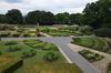 Les Jardins du Fleuriste, vue de l'allée occidentale vers le sud, 2017