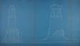 Onze-Lieve-Vrouwvoorplein, ontwerp voor het Monument van de onbekende Franse soldaat, gesneuveld op Belgische Bodem tijdens de oorlog van 1914-1918, opstanden voorkant en linker zijkant, SAB/NPP E9 (1925)