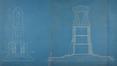 Onze-Lieve-Vrouwvoorplein, ontwerp voor het Monument van de onbekende Franse soldaat, gesneuveld op Belgische Bodem tijdens de oorlog van 1914-1918, opstand achterkant en langsdoorsnede, SAB/NPP E9 (1925)